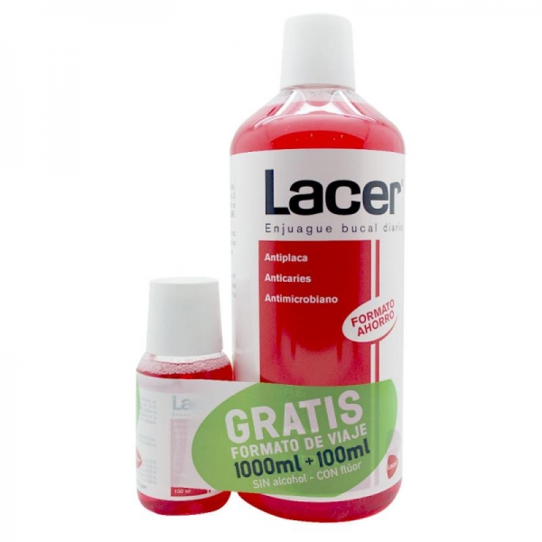 LACER ENJUAGUE BUCAL 1000ML + 100ML GRATIS